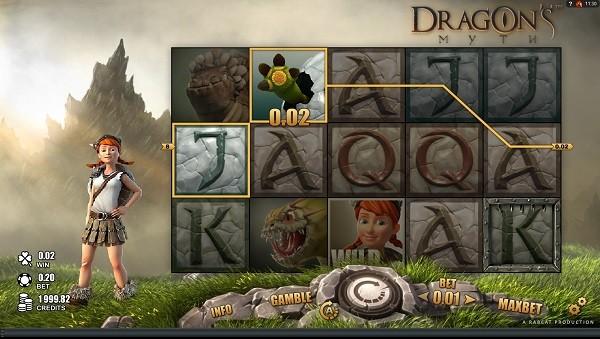 dragons myth online casino game